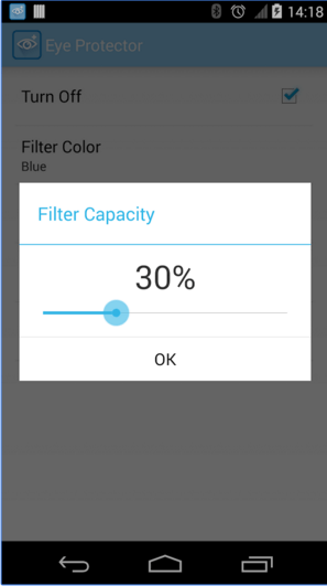 تطبيق Eye Protect Blue Light Filter